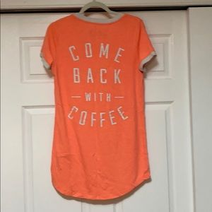 "Sleep shirt ""come back with coffee"""